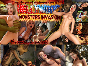 It's a monster invasion in Hellywood and hot chicks all over the cityend up getting fucked by creepy zombies, horny goblins, hung greenorcs and all other