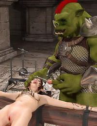 Merciless executioner gives a pretty elf a rough bondage fuck