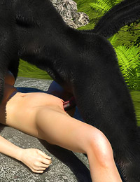Wet pulsing wolf dick for cute tiny slutty Red Cap