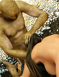 Filthy 3D sexual intercourse between female and satanic beasts