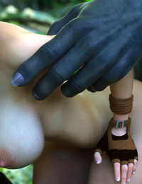 Her little hole being filled by his massive black monster dick