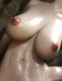 3D creatures with massive dongs and their cock-loving slender brunette