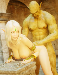 Astonishing 3D orc is banging that wonderful blonde elf