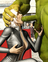 Hunk whips out thick giant dick to destroy a blonde foxy babe