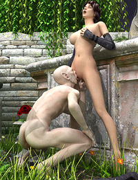 Busty vampire-hunting amazon dominates and fucks her prey