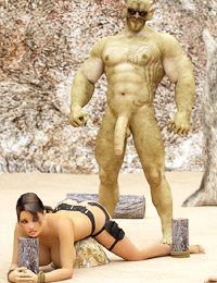 Shocking 3d monster porn with terrible creatures fixing the babe and fucking her ass and pussy