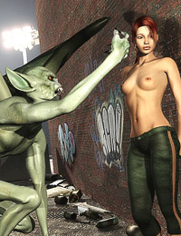 Pussy hungry 3d giant monsters got one beauty elf babe in doggy pose and fucking her all together