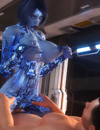 3D Roboslut is giving this pilot an outstandingly good blowjob
