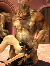 Walking down the street a gorgeous girl gets assaulted by a horny troll, so she has to suck his long shaft and let him plow her.